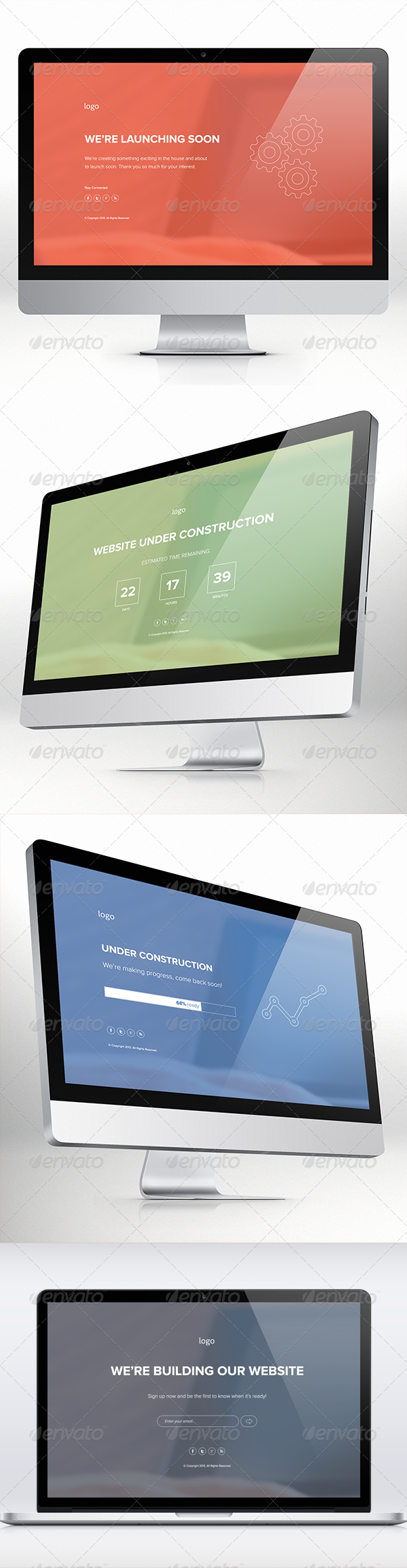 GraphicRiver Under Construction & Launching Soon Templates 5385589