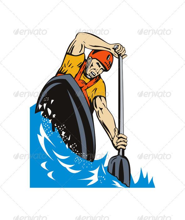 GraphicRiver Kayak Paddler 5407360