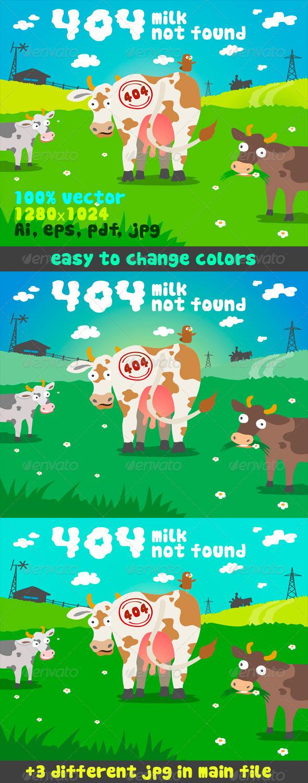 GraphicRiver 404 Milk Not Found 5407587