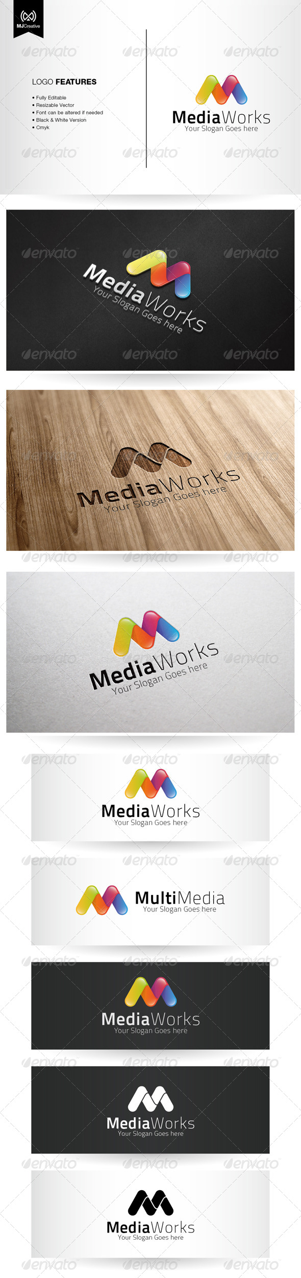 GraphicRiver Colorful M Logo 5408020