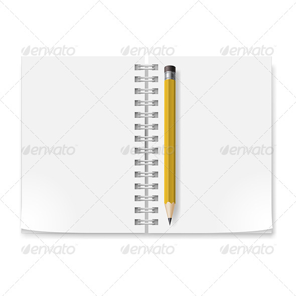 GraphicRiver Notebook with Pencil 5408022
