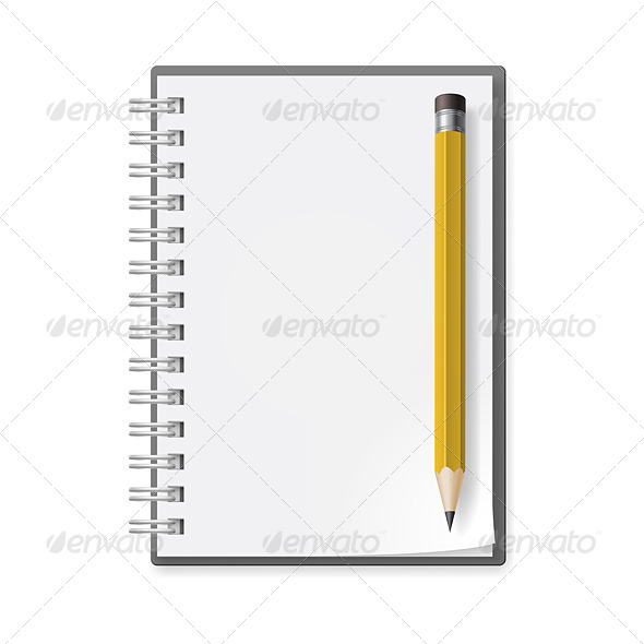 GraphicRiver Notebook with Pencil 5408023