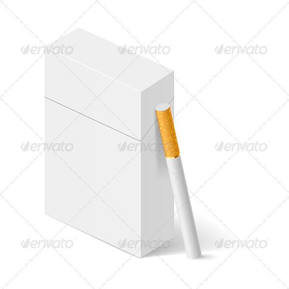 GraphicRiver White Pack of Cigarettes 5408032
