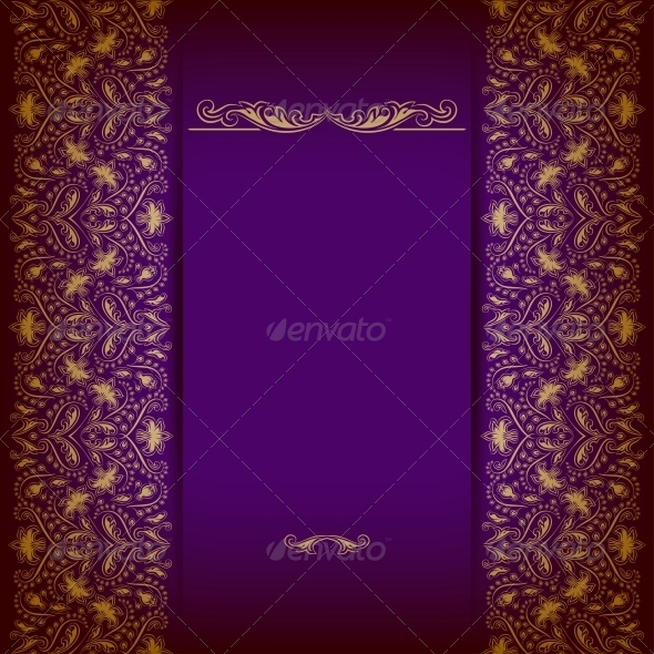 GraphicRiver Elegant Background with Lace Ornament 5408187