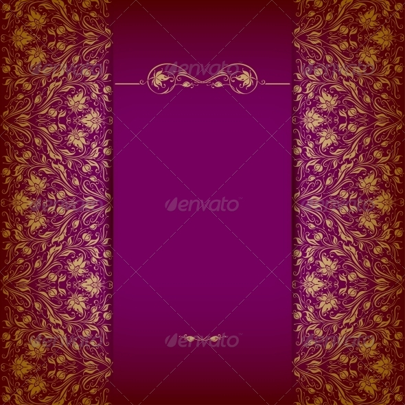 GraphicRiver Elegant Background with Lace Ornament 5408195