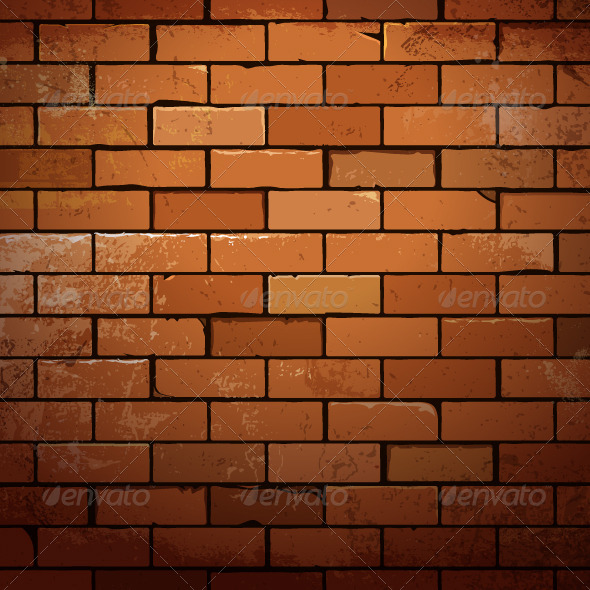 GraphicRiver Red Brick Wall Dirty Background 5408469
