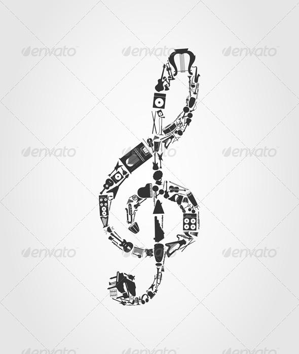 GraphicRiver Musical key 555502