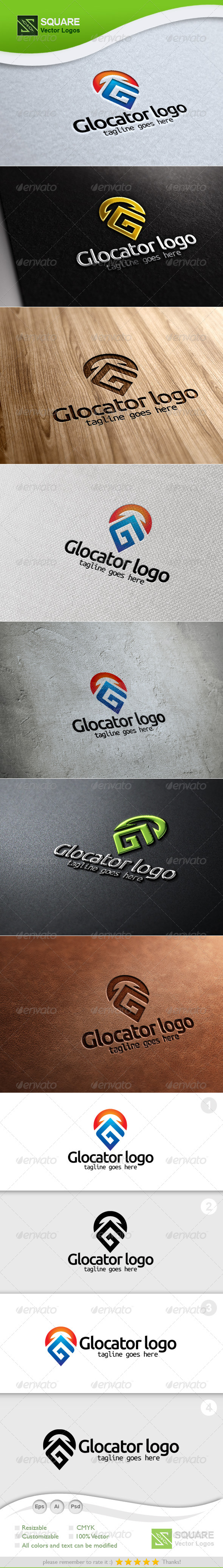 G, Locator Vector Logo Template - Letters Logo Templates
