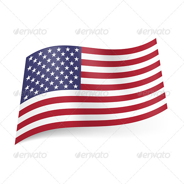 GraphicRiver State Flag of the USA 5408581