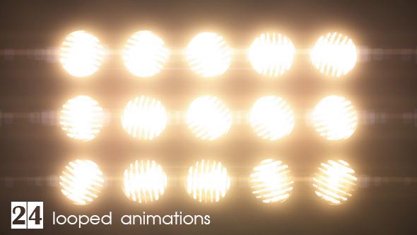 Flashing Lights Wall of Lights VJ Stage