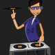 DJ Illustration Mascot - GraphicRiver Item for Sale