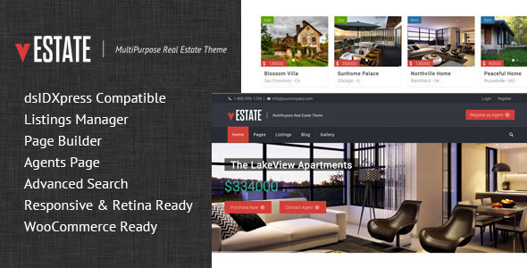 vEstate is a Flat and flexibile Wordpress Theme. This theme is built for professionals and agencies working in the Real Estate domain. It can also be used for C