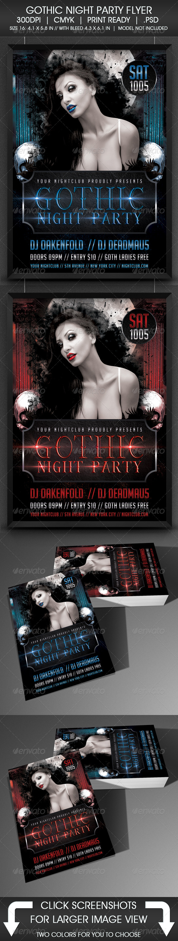 Gothic Night Party Flyer - Clubs & Parties Events