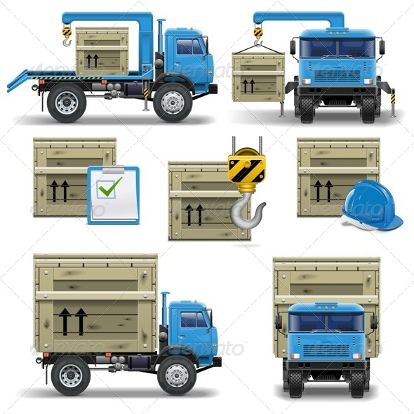 GraphicRiver Vector Shipment Icons Set 7 5409827