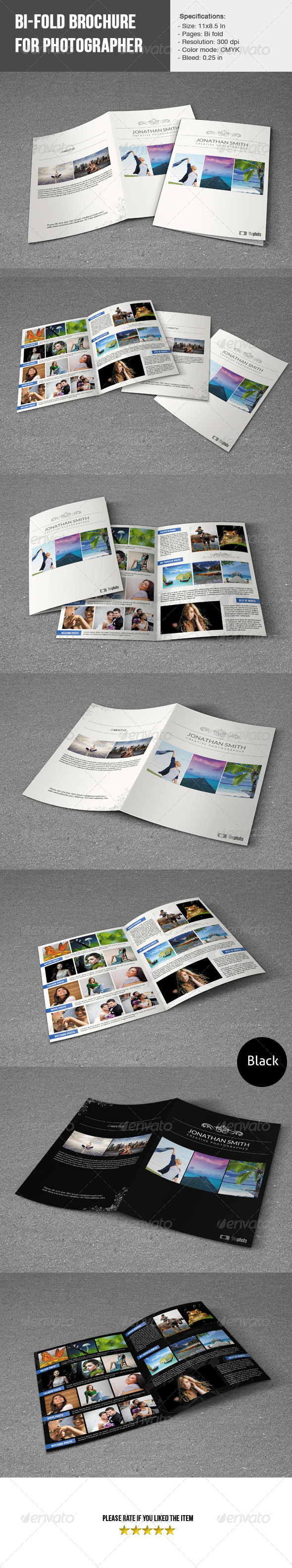 GraphicRiver Bifold-Photographer Short Portfolio 5409849