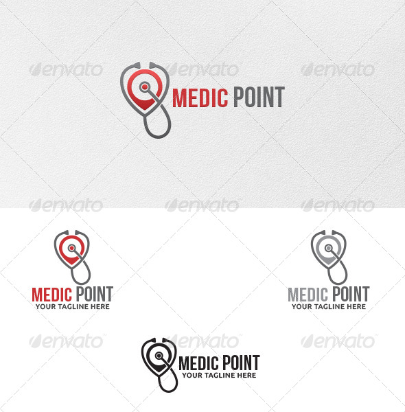GraphicRiver Medic Point Logo Template 5409854