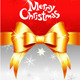 Vector Greeting Card with Christmas Bow  - GraphicRiver Item for Sale