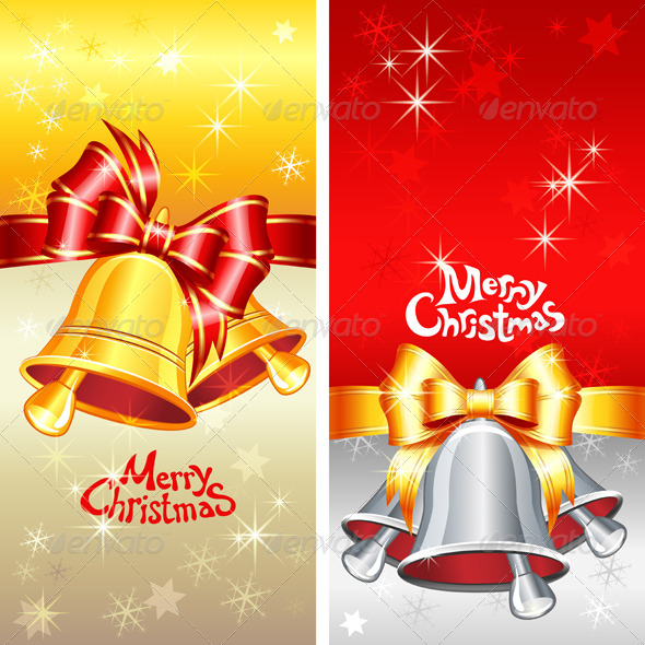 Vector Greeting Card with Christmas Bells - Christmas Seasons/Holidays