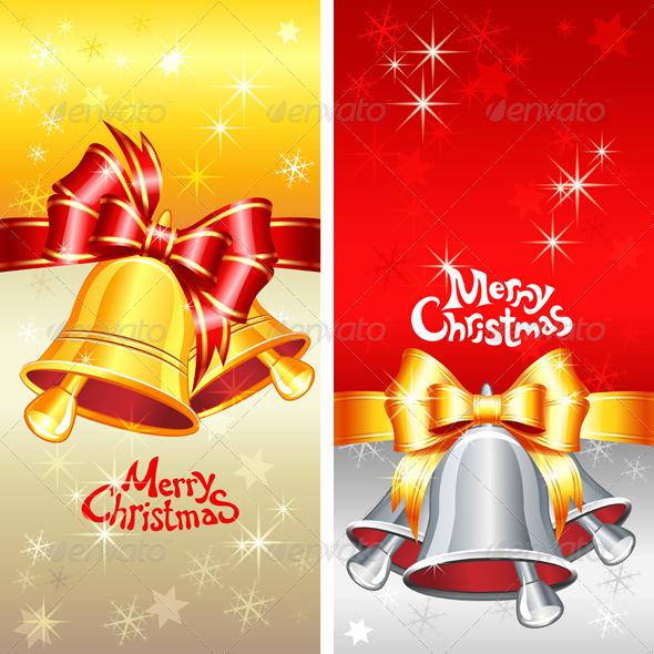 Vector Greeting Card with Christmas Bells - Christmas Seasons/Holidays