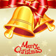 Vector Greeting Card with Christmas Bells - GraphicRiver Item for Sale