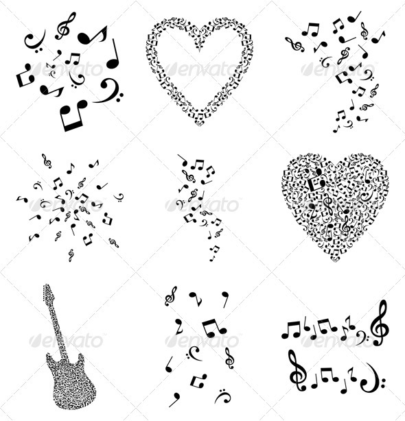 GraphicRiver Musical note4 555824