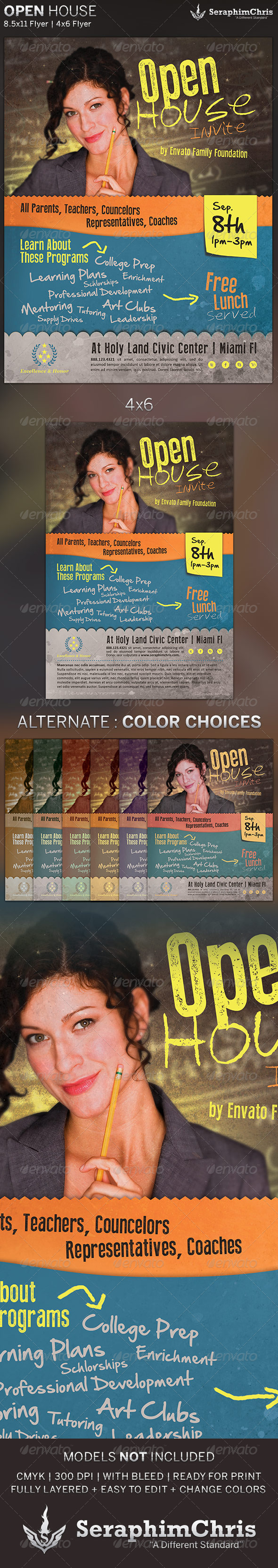 GraphicRiver Open House Flyer Template 5410232