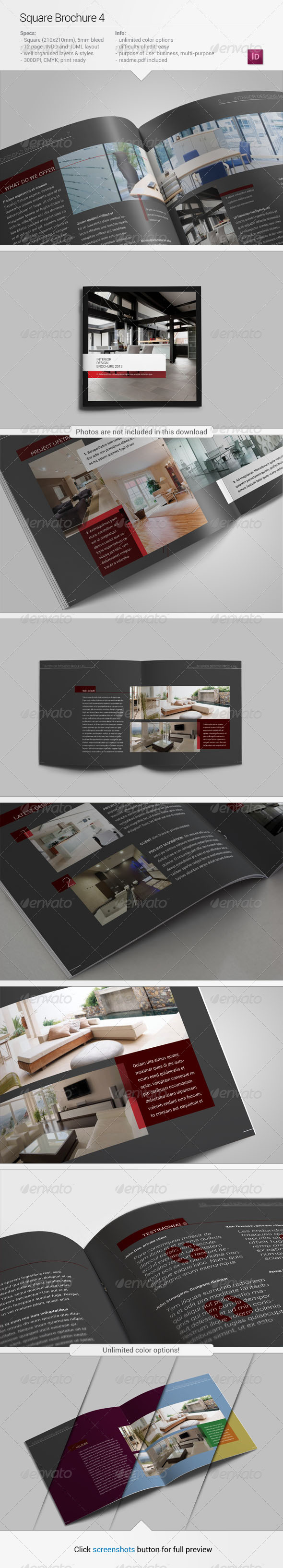 GraphicRiver Square Brochure 4 5410280