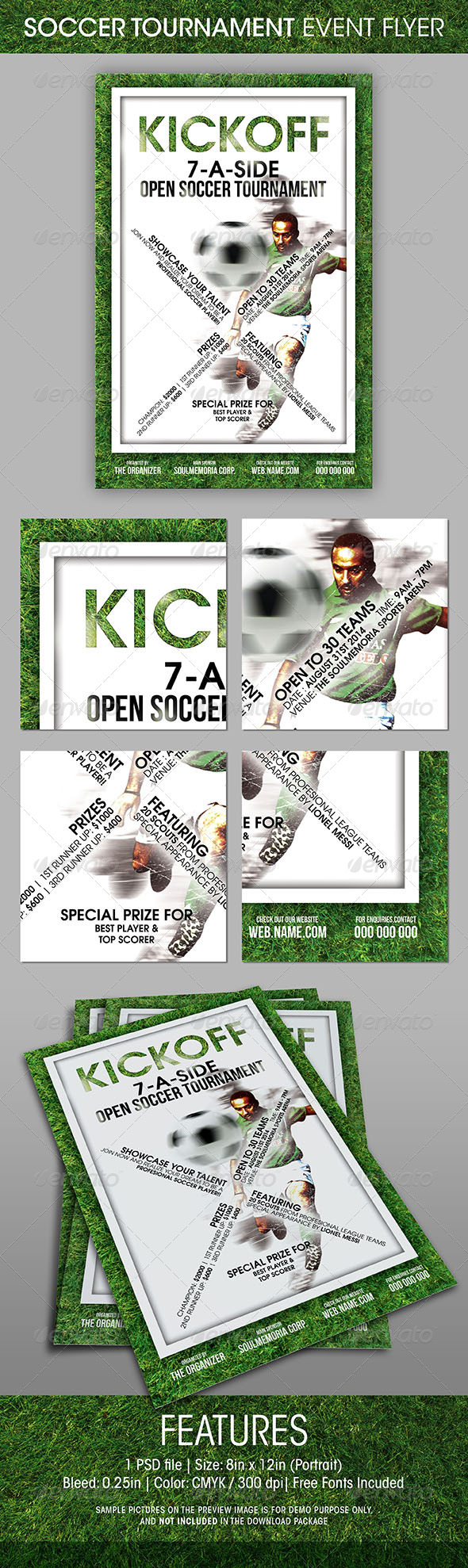 GraphicRiver Soccer Tournament Event Flyer 5410382