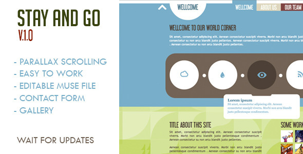 Stay and Go Muse Template - Landing Muse Templates