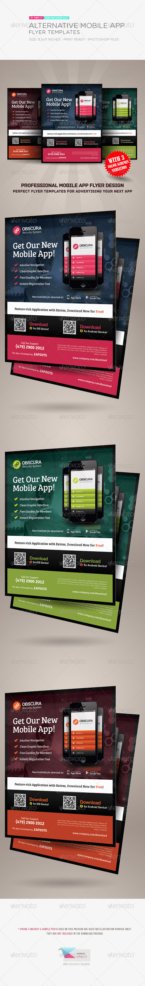 GraphicRiver Alternative Mobile App Flyer Template 5411228