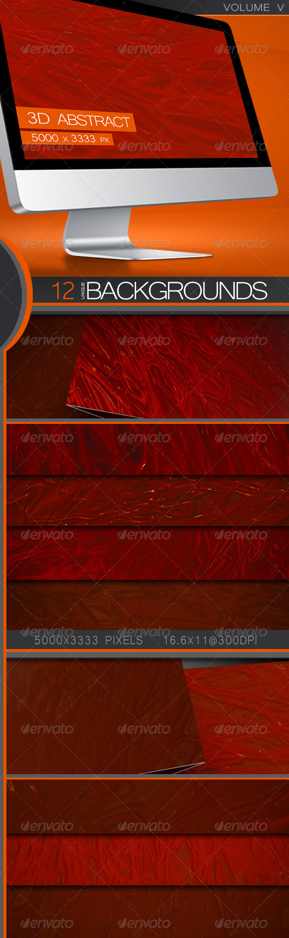 GraphicRiver 3D Abstract Backgrounds Volume 5 5411260