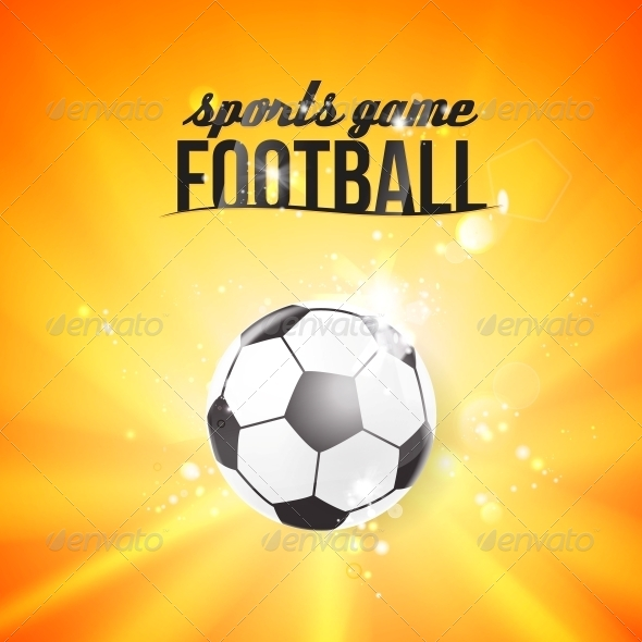 GraphicRiver Shining Soccerball on an Orange Background 5411376