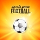Shining Soccerball on an Orange Background - GraphicRiver Item for Sale