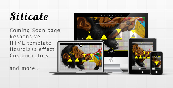 Silicate - Responsive Minimalist Coming Soon HTML - Under Construction Specialty Pages