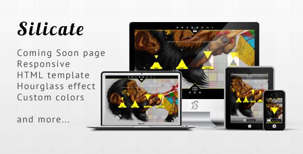 Silicate - Responsive Minimalist Coming Soon HTML