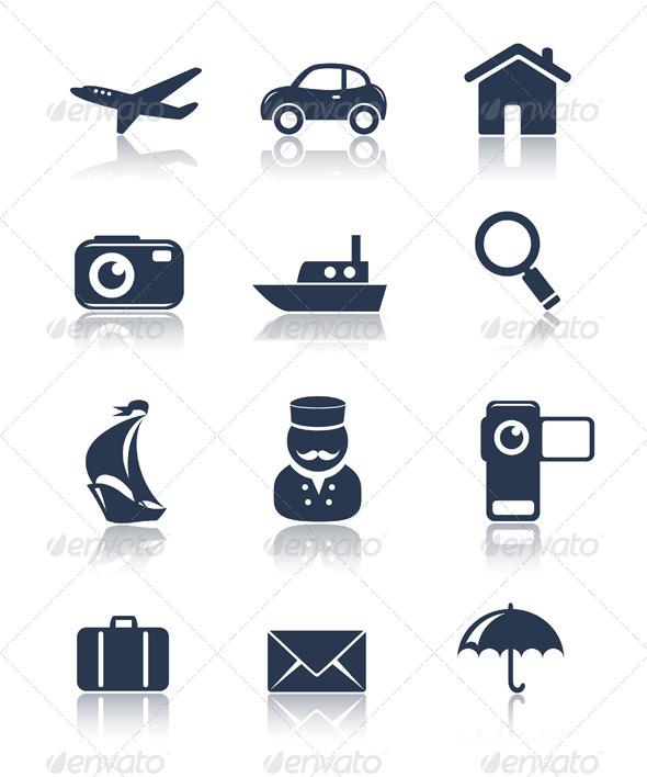 GraphicRiver Travel Icons Set 5411555