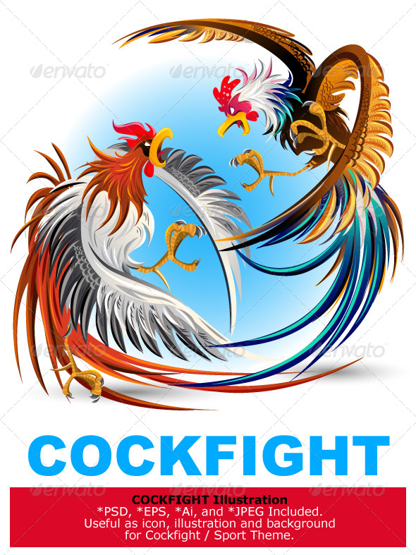GraphicRiver Fighting Cocks 5411590