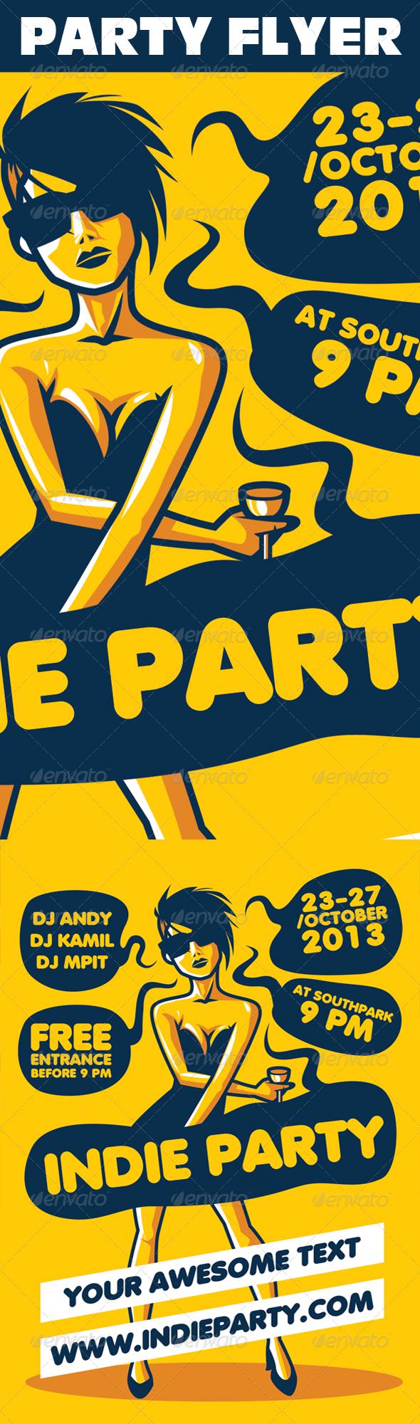 Indie Party Urban Flyer