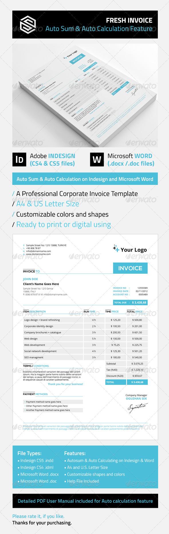 GraphicRiver Fresh Invoice 5411697