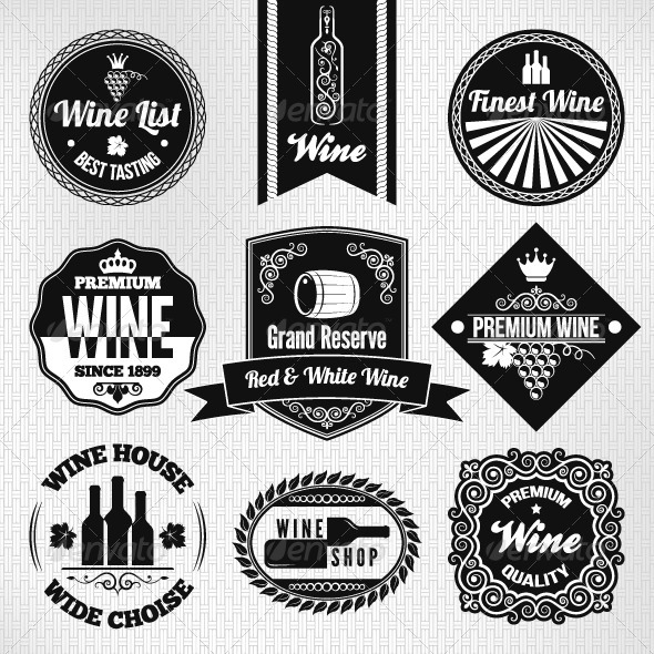 GraphicRiver Wine Labels Set 5412040
