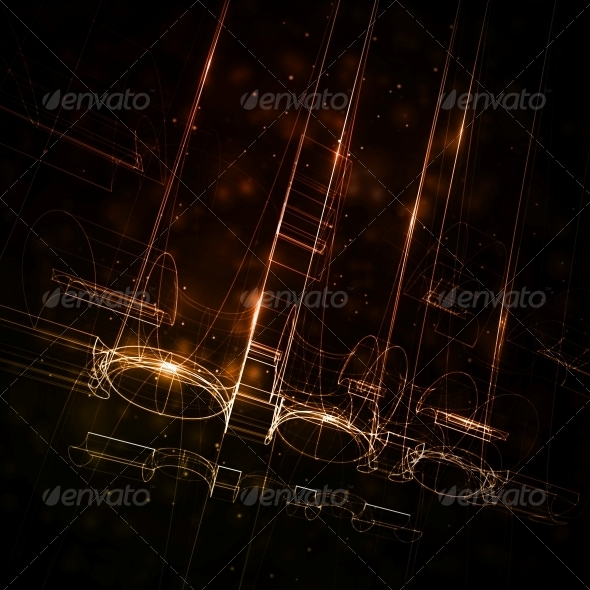 GraphicRiver Abstract Technology Technical Drawing 5412045
