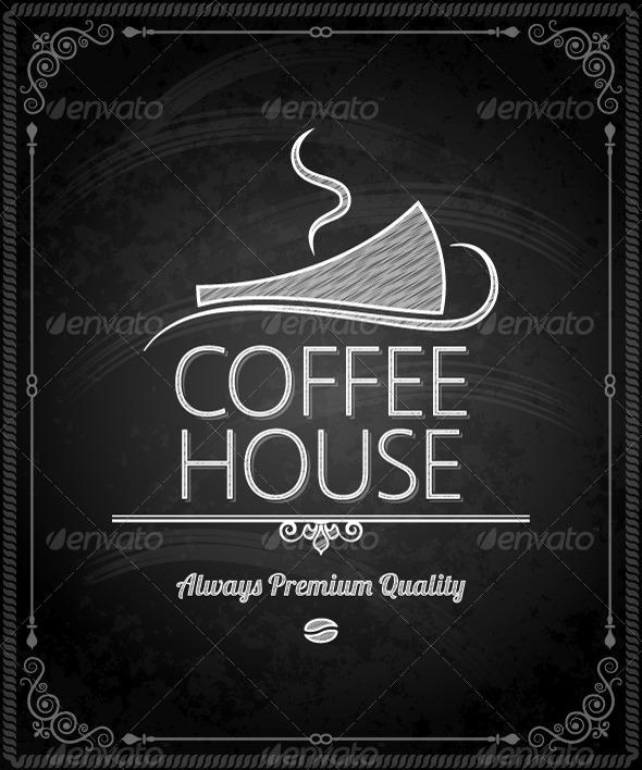 GraphicRiver Chalkboard Frame Coffee Menu 5412092
