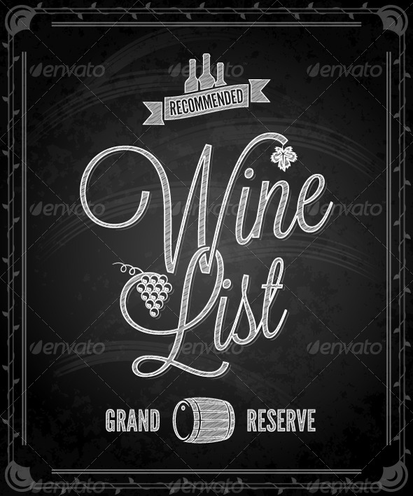 GraphicRiver Chalkboard Frame Wine Menu 5412252