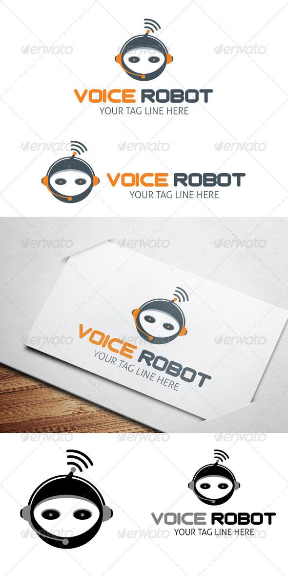 GraphicRiver Voice Robot Logo 5412351