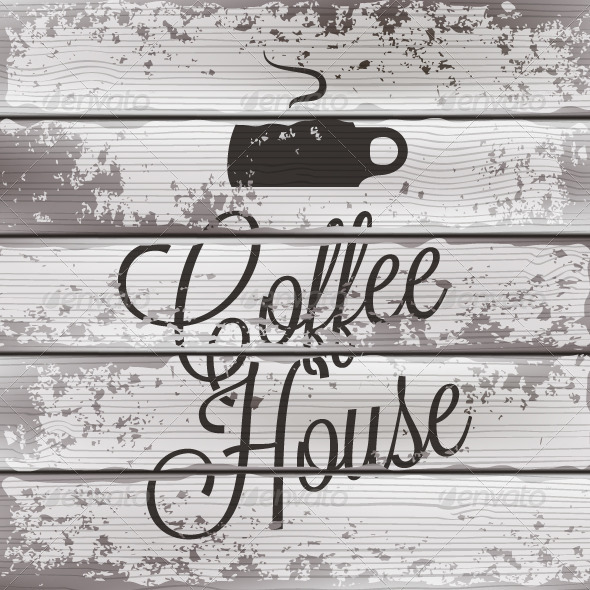 GraphicRiver Coffee Old Wooden Background 5412389