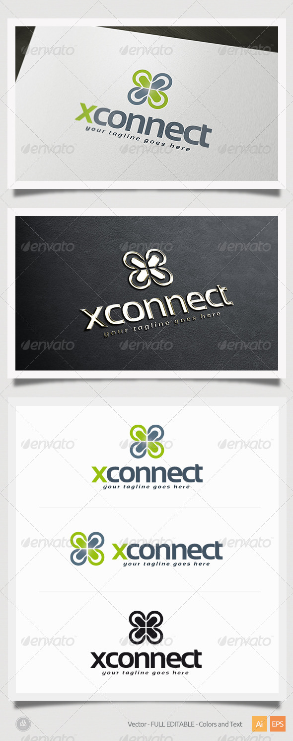 GraphicRiver X Connect Logo 5412464