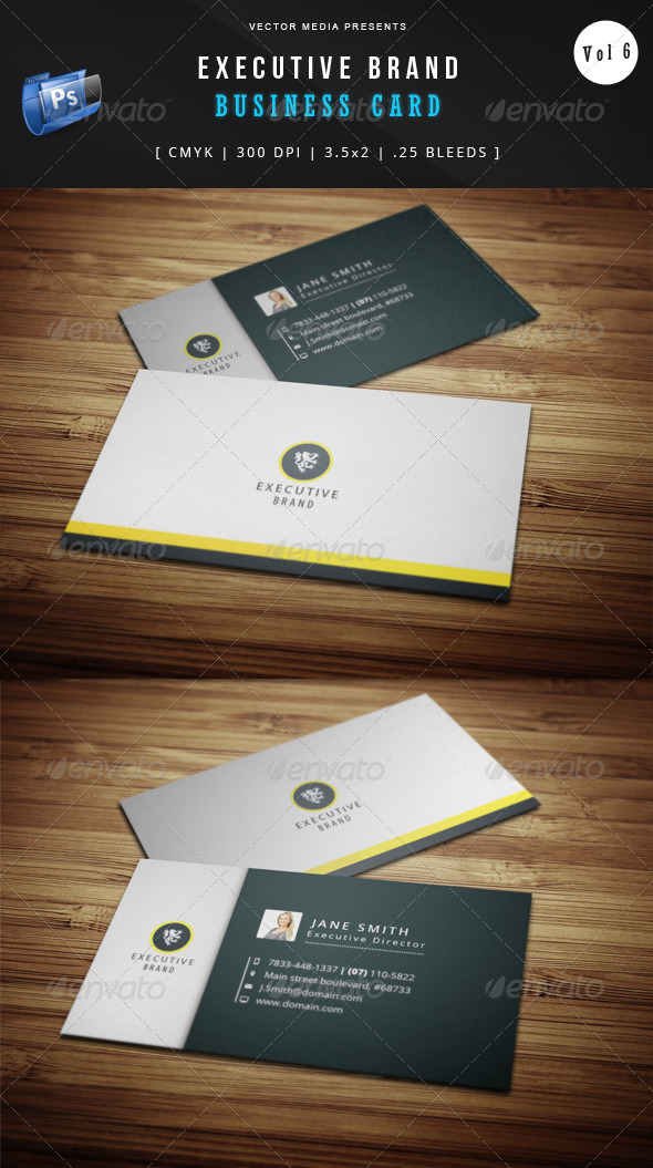GraphicRiver Executive Brand Business Card [Vol.6] 5412691
