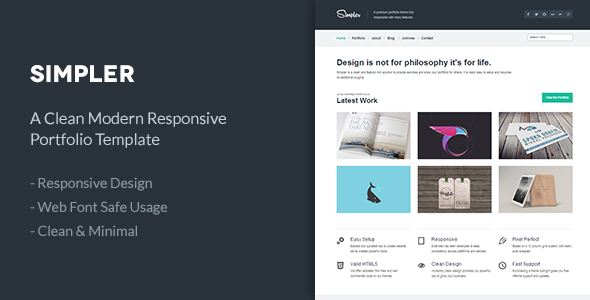 Simpler | A Clean Responsive Portfolio Template