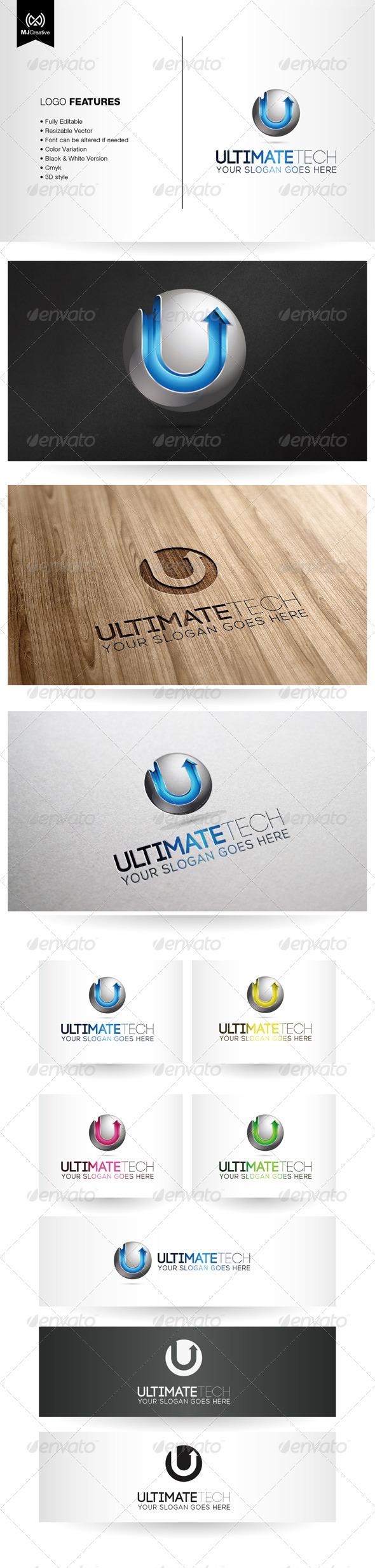 GraphicRiver U Tech 3D Logo 5412789