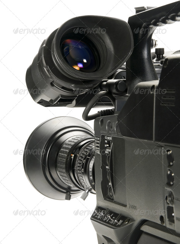PhotoDune Professional digital video camera isolated on white background 556413